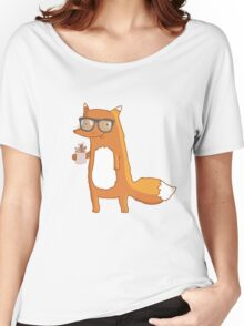 Fox & coffee Women's Relaxed Fit T-Shirt