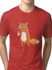 Fox & coffee Tri-blend T-Shirt
