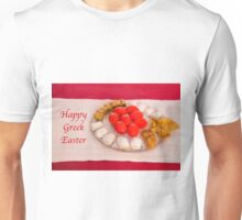 Happy Greek Easter With Easter Food  Unisex T-Shirt