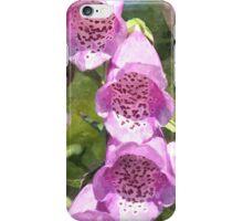 Foxgloves iPhone Case/Skin