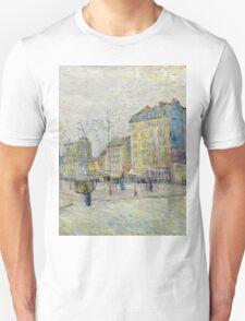 1887-Vincent van Gogh-Boulevard de Clichy Unisex T-Shirt
