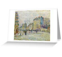 1887-Vincent van Gogh-Boulevard de Clichy Greeting Card