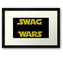 star wars- Swag Wars Framed Print