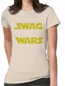 star wars- Swag Wars Womens Fitted T-Shirt