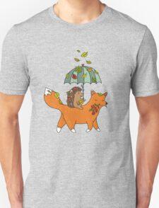Hedgehog and fox Unisex T-Shirt