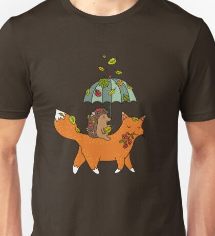 Hedgehog and fox Unisex T-Shirt