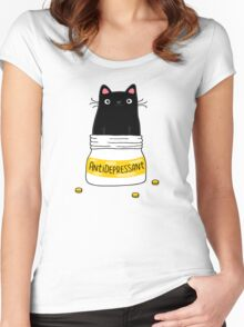 FUR ANTIDEPRESSANT Women's Fitted Scoop T-Shirt