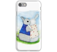 two Bunny hug iPhone Case/Skin