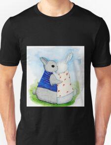two Bunny hug Unisex T-Shirt