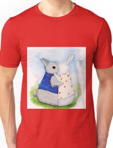 two Bunny hug Unisex T-Shirt