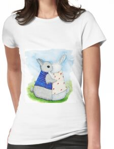 two Bunny hug Womens Fitted T-Shirt