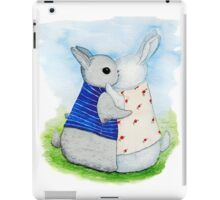 two Bunny hug iPad Case/Skin
