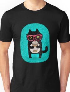 Coffee Cat and Doodles Unisex T-Shirt