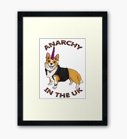ANARCHY IN THE UK Framed Print