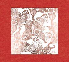 Vintage Faux Rose Gold Rustic Floral Drawings Tri-blend T-Shirt