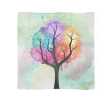 Awesome abstract pastel colors oil paint tree of Life Scarf