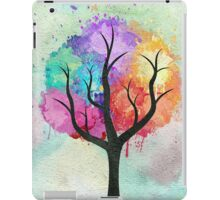 Awesome abstract pastel colors oil paint tree of Life iPad Case/Skin