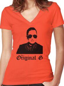 Original (G)insburg Women's Fitted V-Neck T-Shirt