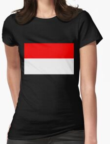 Flag of Monaco Womens Fitted T-Shirt