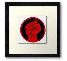Red Revolution Fist Framed Print