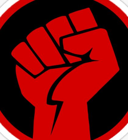 Red Revolution Fist Sticker