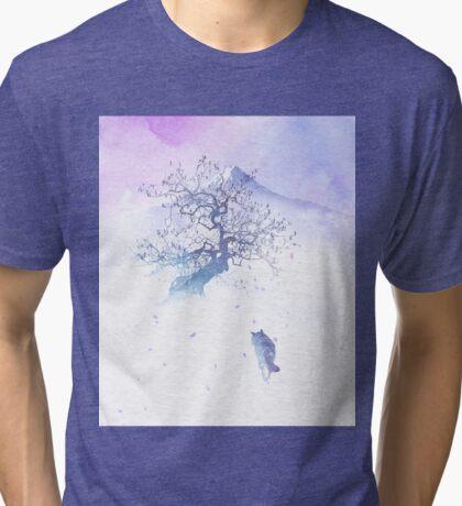 The long way to Fuji Tri-blend T-Shirt