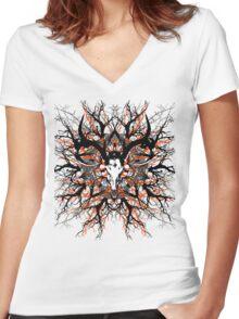 Pagan mandala 2 Women's Fitted V-Neck T-Shirt