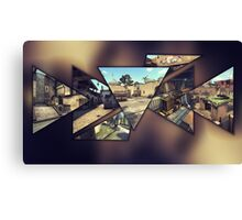 CS:GO Maps Canvas Print