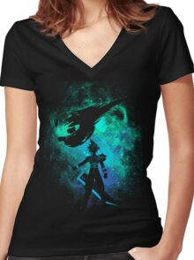 Ex soldier Art Women's Fitted V-Neck T-Shirt