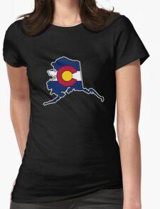 Alaska outline Colorado flag T-Shirt