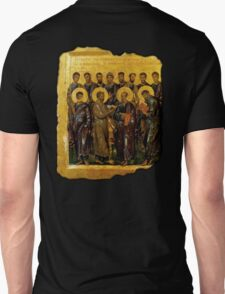 Twelve Disciples, Synaxis, Christianity, Twelve Apostles, Russian, 14th century, Moscow Museum. T-Shirt