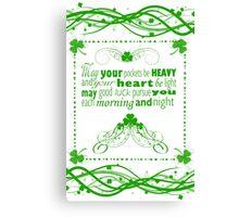 Irish Blessing Canvas Print