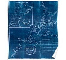 American Revolutionary War Era Maps 1750-1786 358 Campaign of MDCCLXXVI Inverted Poster