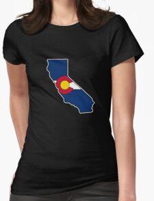 California outline Colorado flag T-Shirt