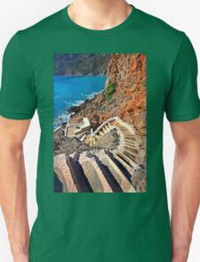 Stairway to the Aegean - Telendos island Unisex T-Shirt