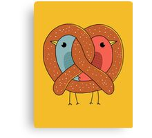 Love in pretzel Canvas Print