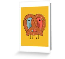 Love in pretzel Greeting Card
