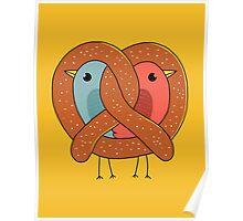 Love in pretzel Poster