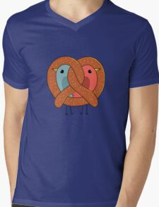 Love in pretzel Mens V-Neck T-Shirt