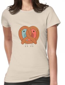Love in pretzel Womens Fitted T-Shirt