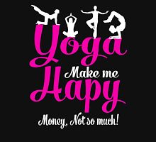 Yoga Make Me Happy Women's Fitted Scoop T-Shirt