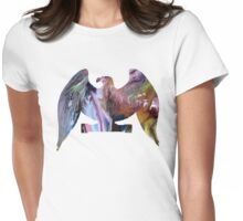 Eagle portrait Womens Fitted T-Shirt