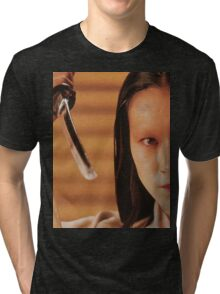 Lady Kaede - Mieko Harada - Akira Kurosawa - Ran - Shakespeare - King Lear Tri-blend T-Shirt