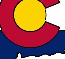 Connecticut Colorado flag Sticker