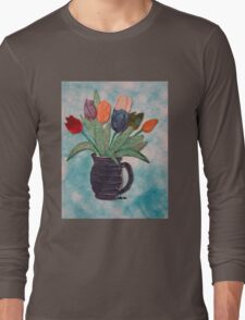 Tulips in a Vase 15B Long Sleeve T-Shirt
