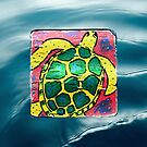Sea Turtle in the ocean by Casey Virata