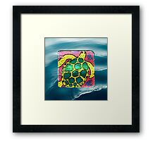 Sea Turtle in the ocean Framed Print
