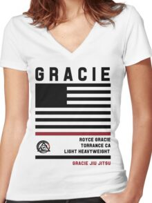 Royce Gracie - Fight Camp Collection Women's Fitted V-Neck T-Shirt