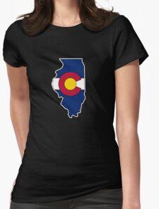 Illinois Colorado flag T-Shirt