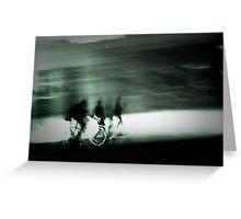 Cyclists at Dusk Greeting Card